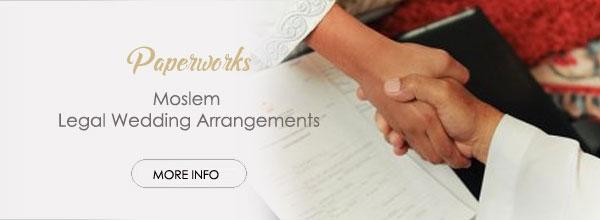 Moslem Paperworks for Bali Wedding honeymoon